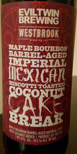 Maple Bourbon-Barrel Aged Imperial Mexican Biscotti Toasted Coconut Cake Br