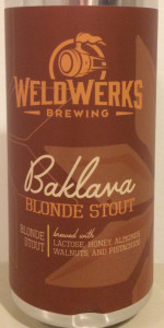 Baklava Blonde Stout