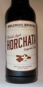 Horchata Imperial Stout (Templeton Rye Barrel Aged)