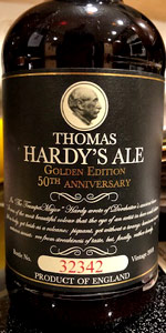 2018 Thomas Hardy's Ale 50th Anniversary Golden Edition