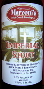 Marzoni's Imperial Stout - Barrel Aged