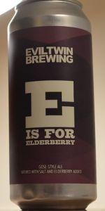 E Is For Elderberry