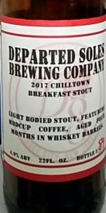 Image result for departed soles chilltown breakfast stout