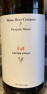 Fall 2018 Coffee Stout