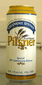 Creemore Springs Traditional Pilsner
