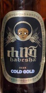 ETHIOPIA Habesha Breweries,Addis Ababa COLD GOLD beer label C2109 106