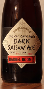 Cognac Cask-Aged Dark Saison Ale