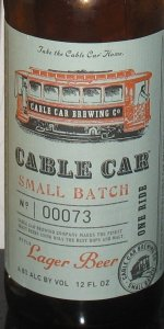Cable Car Small Batch Lager