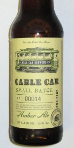 Cable Car Small Batch Amber Ale