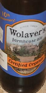 Wolaver's Farmhouse Ale