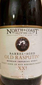 Old Rasputin XXI Aged in Rye Whiskey Barrels