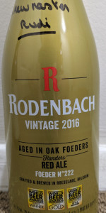2016 Vintage Oak Aged Ale (Barrel No. 222)
