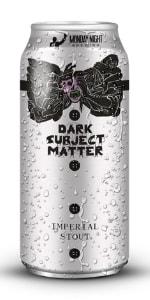 Dark Subject Matter