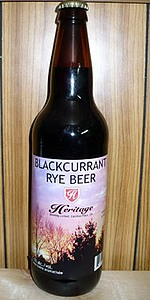 Heritage Black Currant Rye Beer