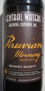 Brewer's Reserve Bourbon Barrel Peruvian Morning