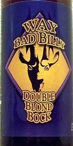 Way Bad Billy Double Blond Bock