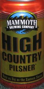"""High Country Pilsner (""""Golden Trout Pilsner"""")"""
