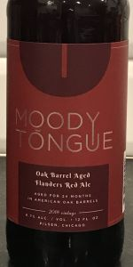 Oak Barrel Aged Flanders Red Ale