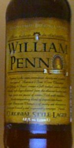 William Penn Colonial Style Lager