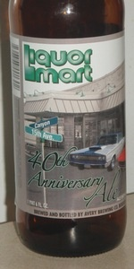 Liquor Mart 40th Anniversary Ale