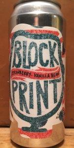 Block Print: Strawberry/Vanilla Bean