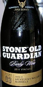 Old Guardian Barley Wine Style Ale - Bourbon Barrel Aged