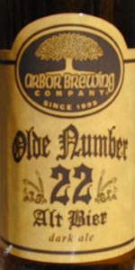 Arbor Brewing Olde Number 22 Alt Bier