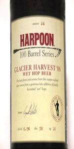 Harpoon 100 Barrel Series #24 - Glacier Harvest '08 Wet Hop Beer