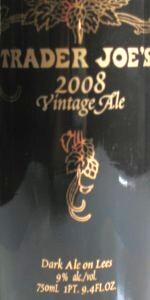 Trader Joe's 2008 Vintage Ale
