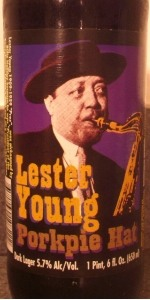 Lester Young Porkpie Hat Dark Lager