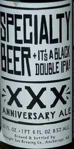 Specialty Beer XXX Black Double IPA