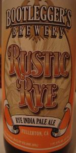 Rustic Rye IPA
