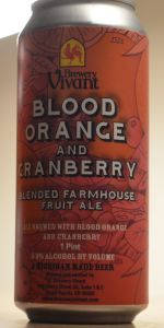 Blood Orange and Cranberry Blended Farmhouse Fruit Ale