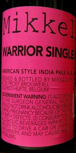 Warrior Single Hop IPA