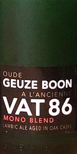Boon Oude Geuze A L'ancienne Vat 86