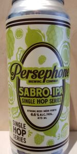 Sabro IPA Single Hop Series 2020