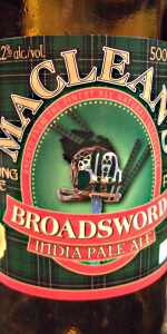 MacLean's Broadsword India Pale Ale