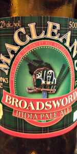 MacLean's Broadsword India Pale Ale