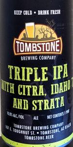 Triple IPA With Citra, Idaho 7, And Strata