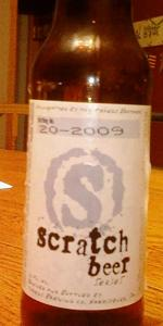 Scratch Beer 20 - 2009 (Apollo Imperial Ale)