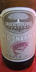 Arbor Brewing Red Snapper Special Bitter