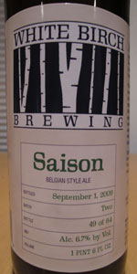 White Birch Saison