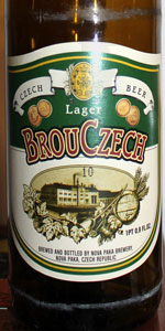 BrouCzech Lager (Brou&#269&#59;ek Beer)