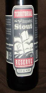 Territorial Reserve Oak Aged Imperial Stout