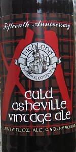 Auld Asheville Vintage Ale