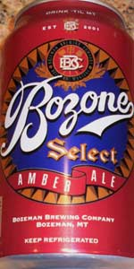 Bozone Select Amber Ale