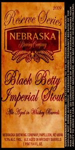 Black Betty Imperial Stout - Reserve Series Aged In Whiskey Barrels