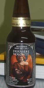 Dernière Volonté Réserve Spéciale En Fût De Pinot Noir