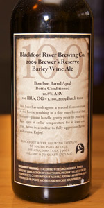 Brewer's Reserve Barley Wine Ale