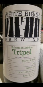 White Birch Bohemian Edition Tripel